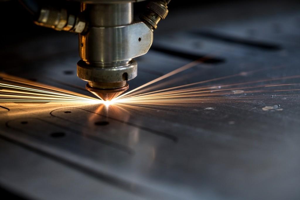 Closeup laser engraving