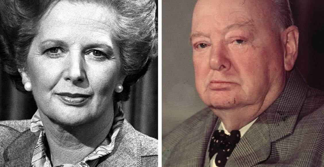 Winston Churchill and Margaret Thatcher (2)
