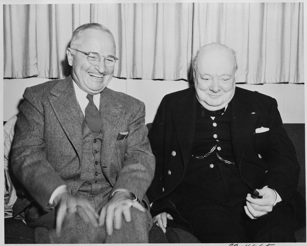 President Truman and Winston Churchill