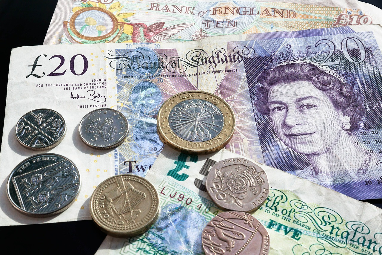 Quid bills and coins British currency