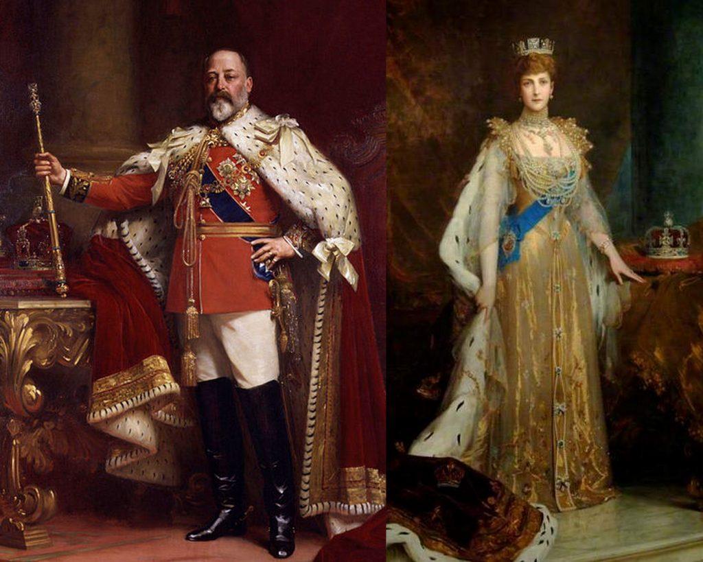 Edward VII and Alexandra coronation portraits