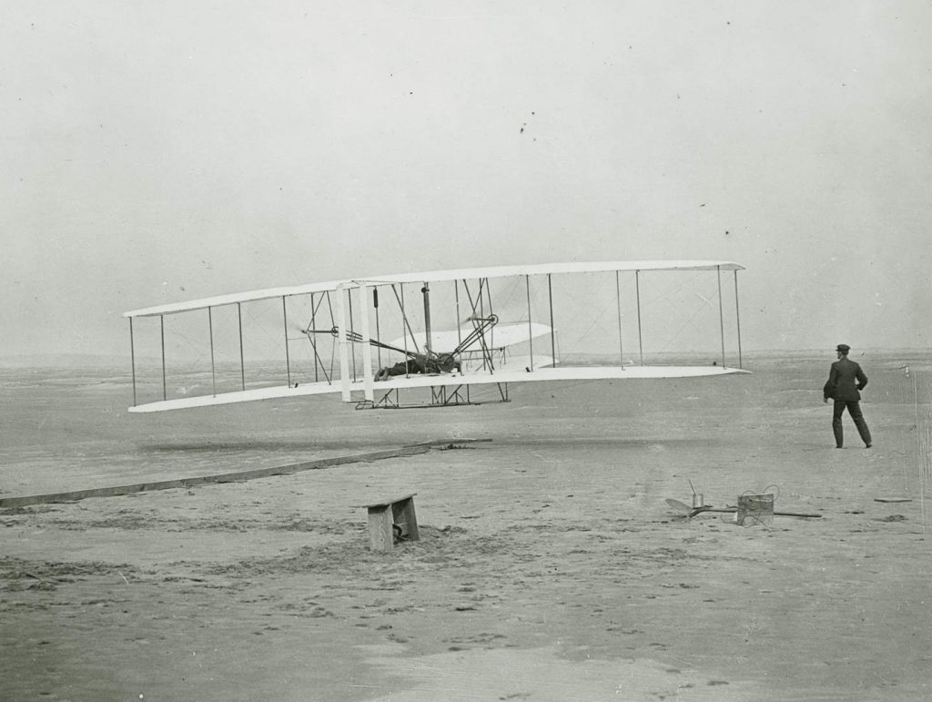 First powered flight during the Edwardian period